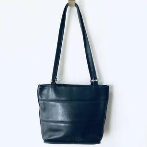 Vtg Coach Tribeca Tote Handbag Purse Black Leather